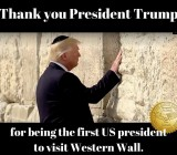 Trump Becomes First Sitting U.S. President to Visit Western Wall